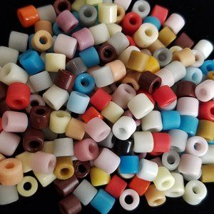 144+ 6mm PONY BEADS Czech Glass MIXED COLORS new